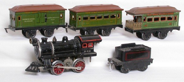622: Bing O gauge passenger train set