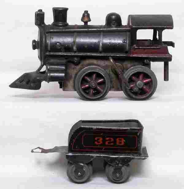 American Flyer prewar steam engine and tender