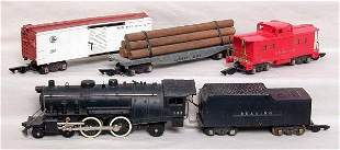 Early American Flyer 5-piece steam freight set