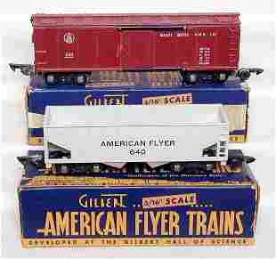 American Flyer 633 & 640 cars