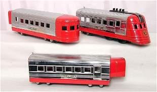 Lionel prewar 1700 JR red/chrome set