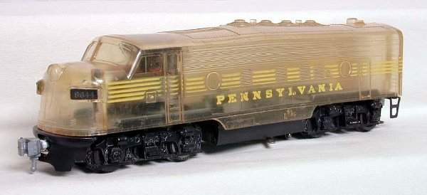 2140: AMT clear bodied F unit with PRR decoration, rare