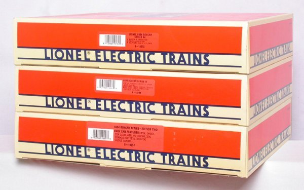 3: Lionel 6464 boxcar series 19257 19266 19272 2 3 4