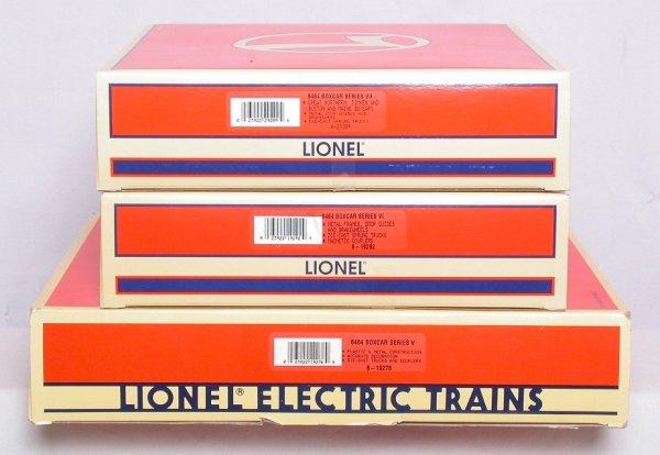 7: Lionel 6464 boxcar series 19276 19292 29209
