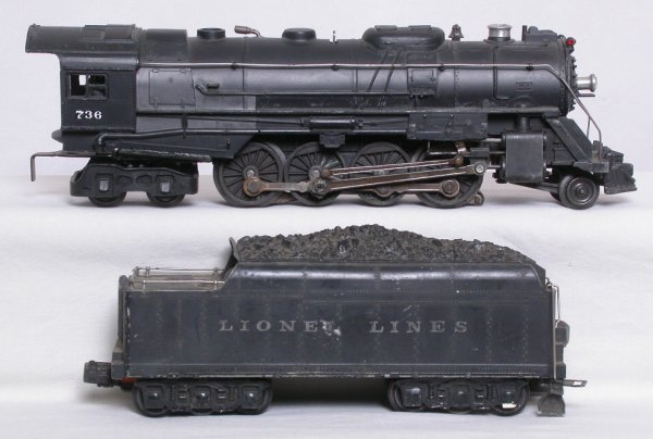 12: Lionel 736 2-8-4 Berkshire and 2426W tender