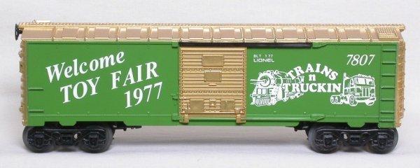 13: Lionel 7807 1977 Toy Fair Trains n Truckin boxcar