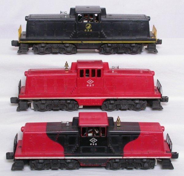 14: Lionel 625 627 628 44-ton switchers NP LV