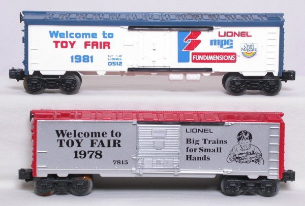 17: Lionel 0512 1981 and 7815 1978 Toy Fair boxcars