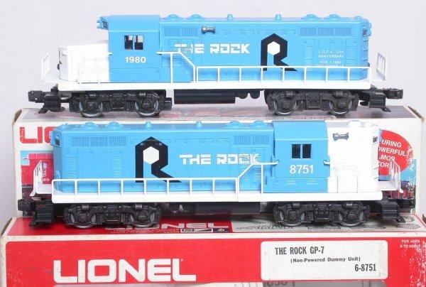19: Lionel Rock 8068 LCCA 1980 GP20 8751 GP7