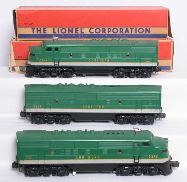 288: Lionel 2356 Southern A-B-A F3 set, OBs, nice!
