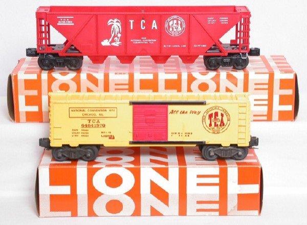 5: Lionel 6464-1970 TCA boxcar 6436-1969 hopper