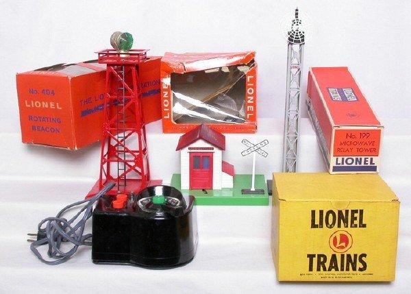 9: Lionel 145 gateman 199 tower 494 beacon LW