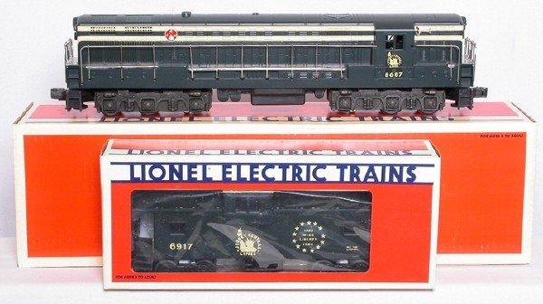 18: Lionel 8687 Jersey Central F-M 6917 caboose NIB