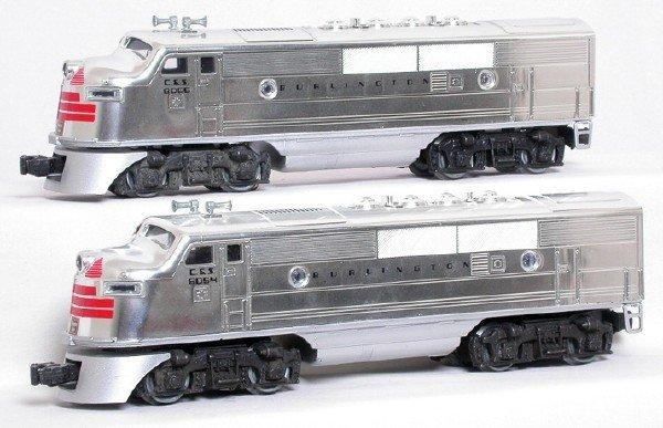 22: Lionel 8054 8055 Burlington F3 A-A set