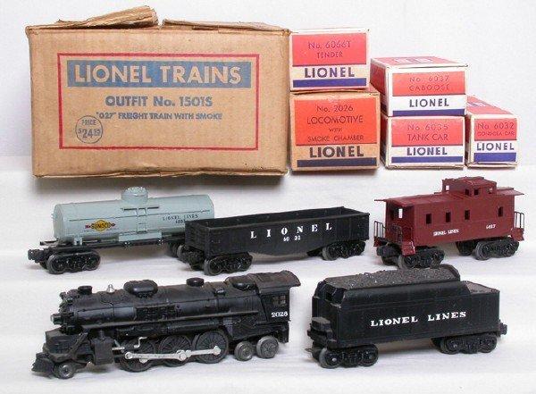 137: Lionel 1501S freight set w/ 2026, OB.