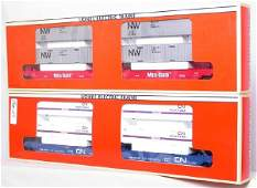 350 Lionel 16912 and 16360 MaxiStack Flatcars