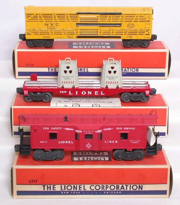 710: Unrun Lionel 6805, 6356 and 6517 in great boxes