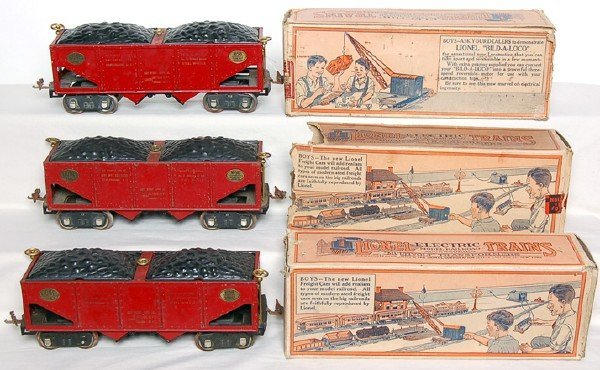 2416: Lionel Three 516 Hoppers with Data Boxed