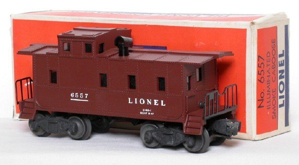 2600: Lionel 6557 Smoking Caboose Boxed