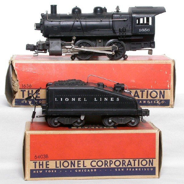 2606: Lionel 1656 switcher 6403B tender Boxed