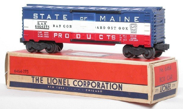 2613: Lionel 6464-275 State of Maine Boxcar OB