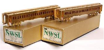 2971: Brass two NWSL Erie Stillwell Coaches Mint OB