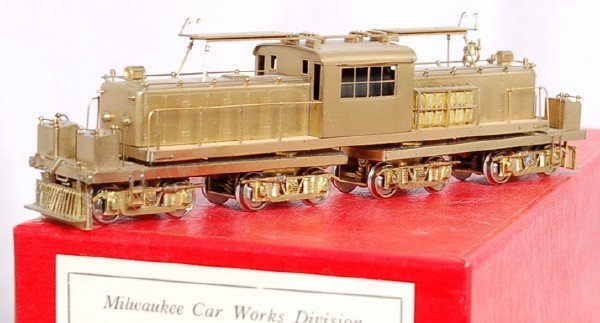 135: Milw. Car brass HO North Shore freight motor 459