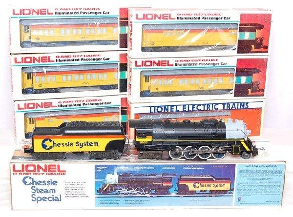 228: Lionel Chessie Steam Special set 8003, 6 cars
