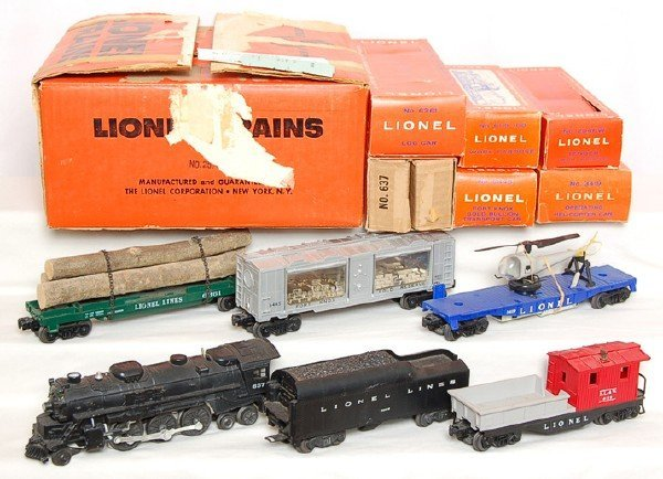 821: Lionel boxed 2571 set with 637 steam loco