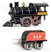 1032: American Flyer prewar steam loco and 328 tender