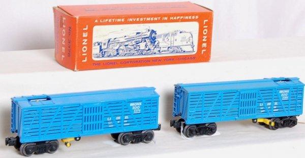 5: Unrun Lionel 3376 and 3386 giraffe cars, one OB