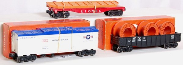 9: Lionel 6502, 3665 in OB and 6062 in OB