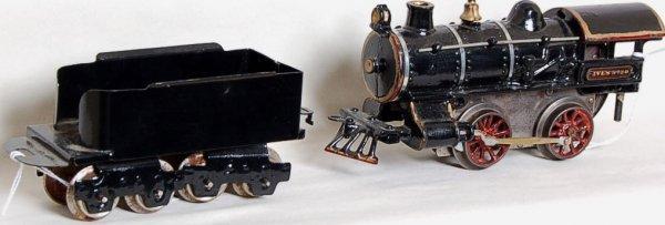 12: Ives 0 gauge No. 20 steam loco and tender
