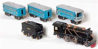118: Lionel prewar 262E, tender, 609, 609 and 611