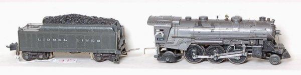 275: Lionel prewar 224E with diecast gray 2224W