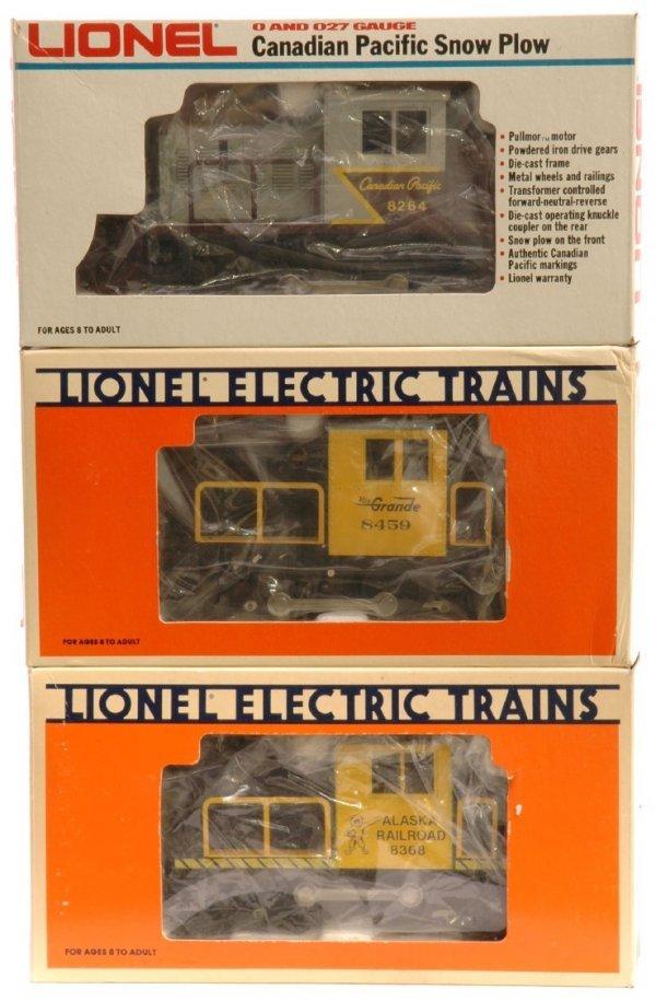 1003: Lionel 8459 RG  8368 Alaska 8264 CP MINT Boxed
