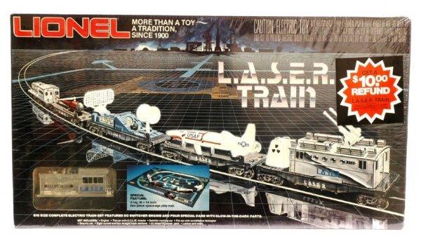 1004: Lionel set 1150 L.A.S.E.R train MINT Sealed OB