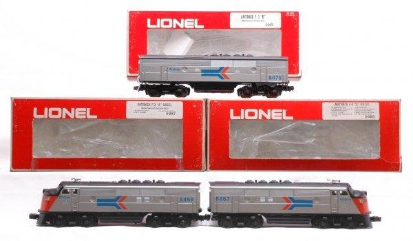 1013: Lionel Amtrak F3 ABA  8466 8467 8475 Boxed