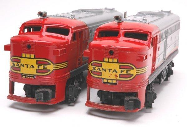 1017: Lionel 218 Santa Fe Alco AA Diesels