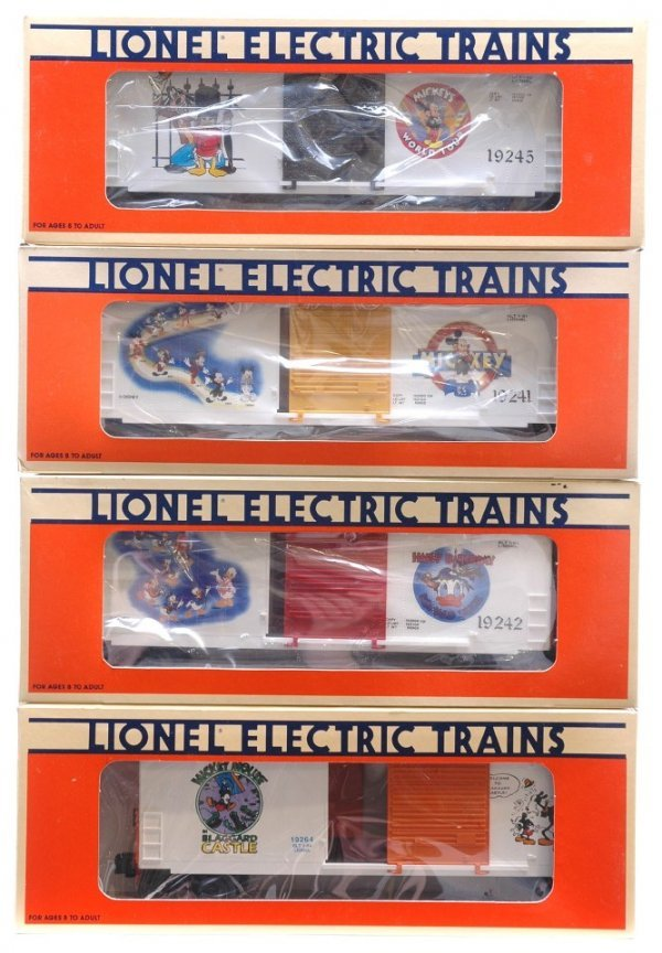 1022: Disney Boxcars 19241 19242 19245 19264 MINT