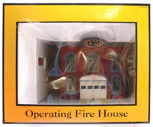 1023: MTH Rail King 9102 Fire House MINT Boxed