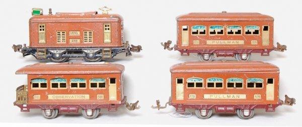 2: Lionel prewar 248 loco, 529, 529 and 530