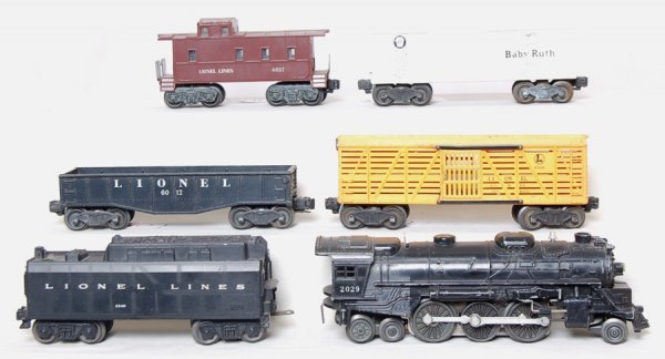 10: Lionel 2029, 234W, 6012, X6014, 6656 and 6037