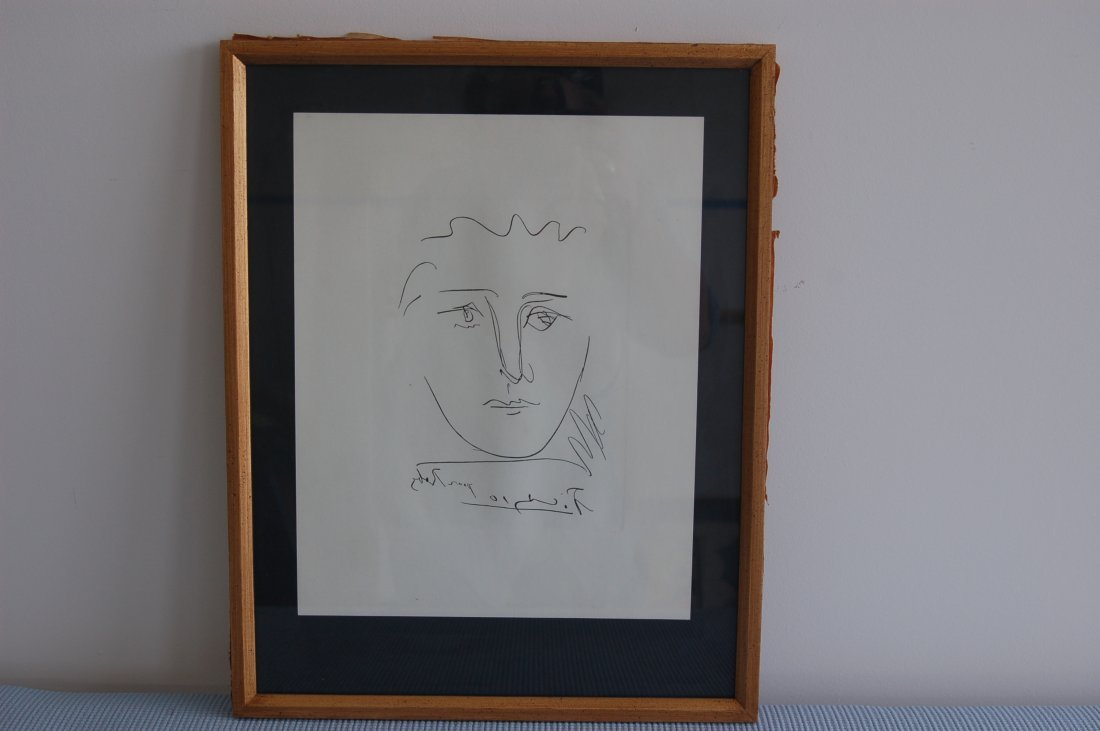 SIGNED PICASSO POUR ROBY EARLY NICE