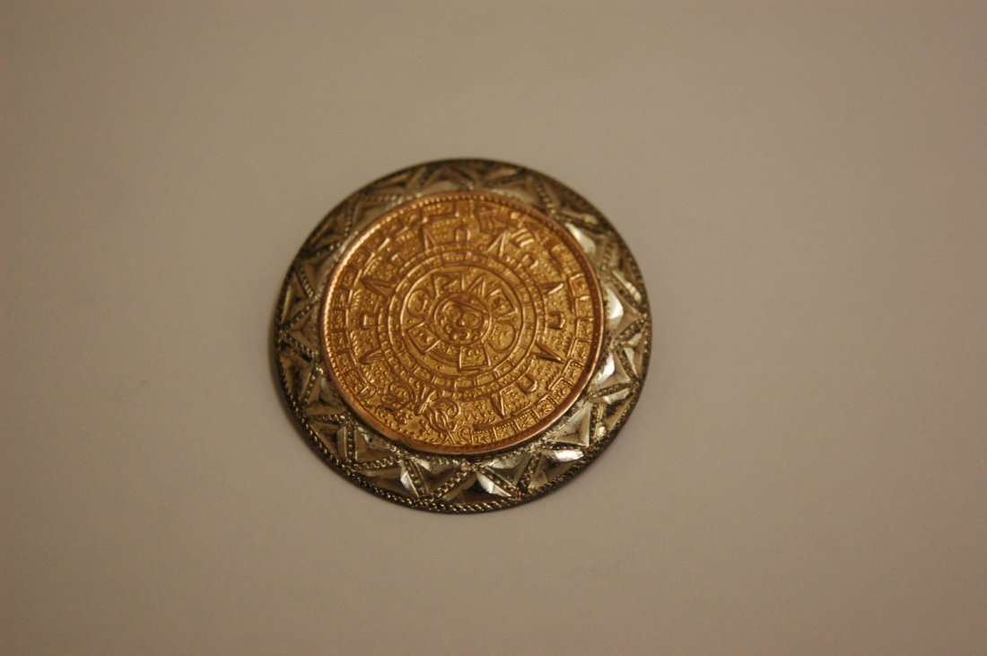 GOLD marked 14k & 925 SILVER PIN
