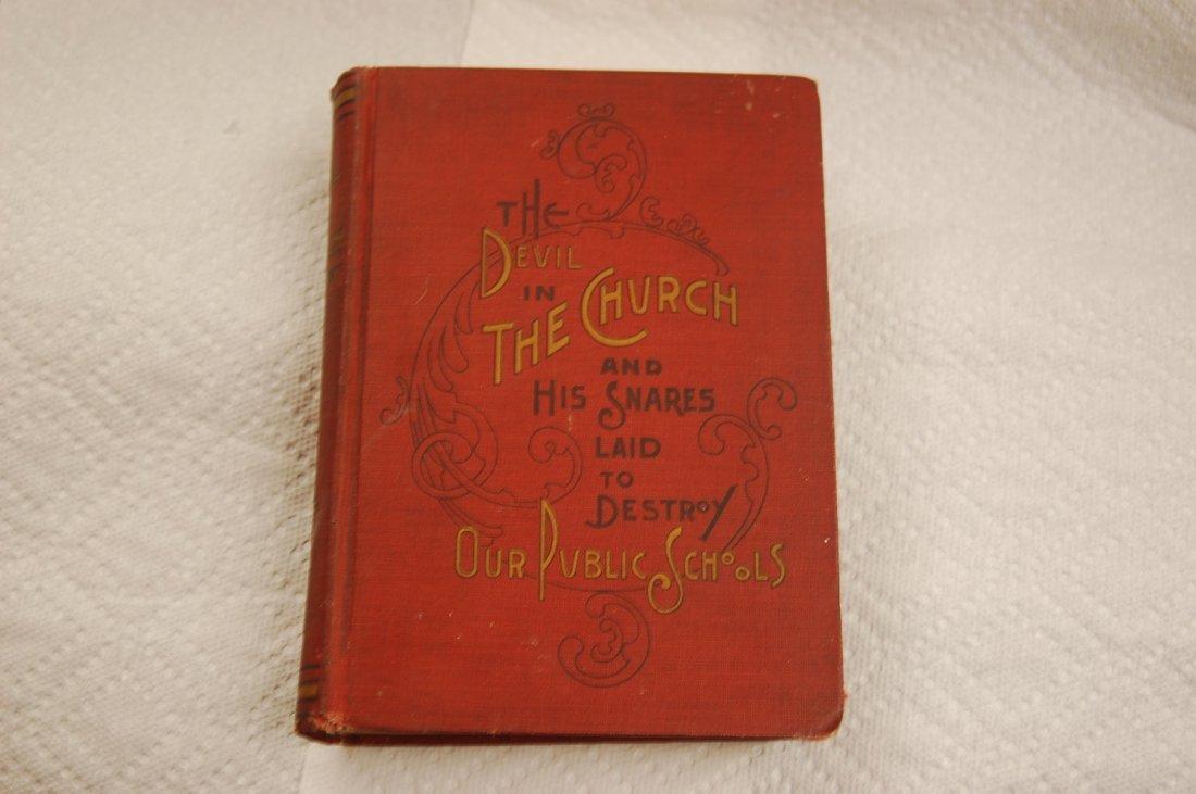 FIRST EDITION 1902 DEVIL IN CHURCH
