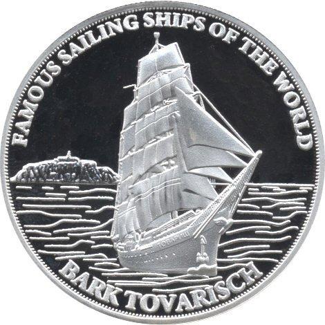 A collectible silver coin, Bark Tovarisch