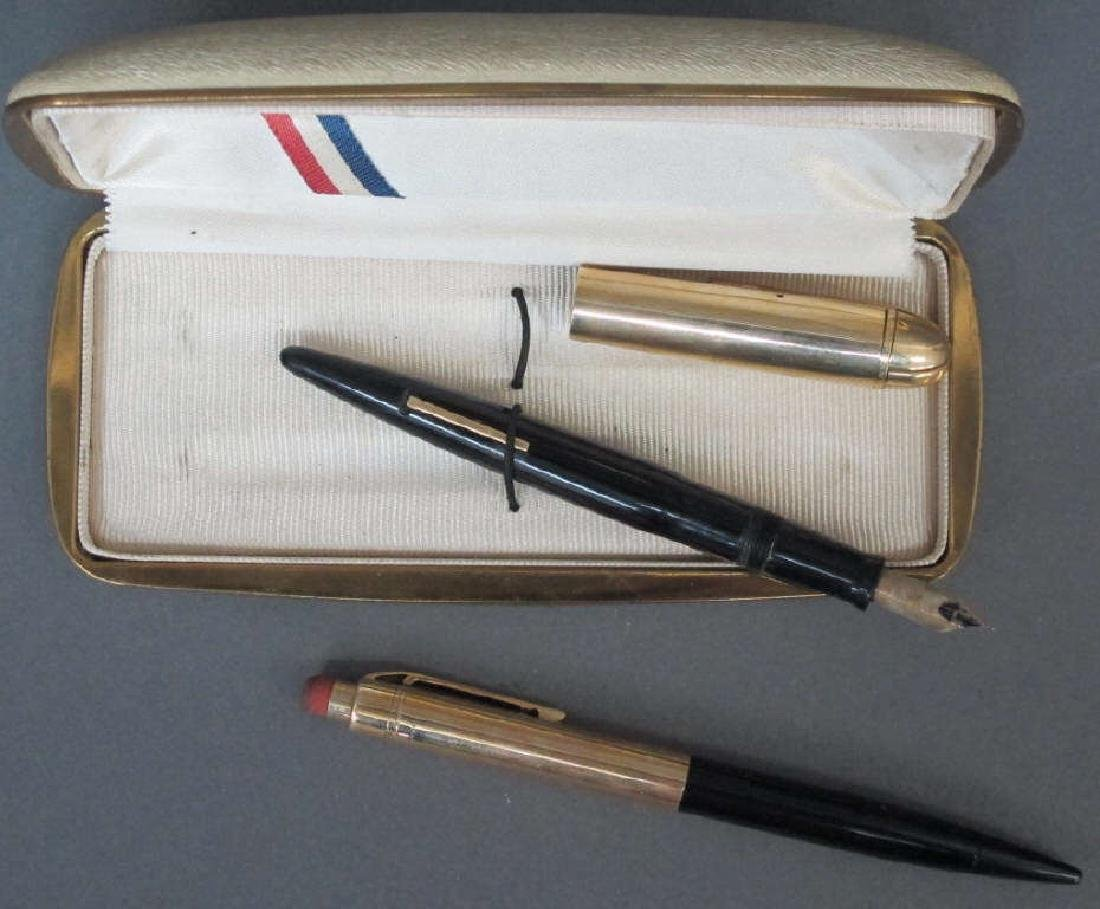 14K Eversharp Skyline Pen/ Pencil Set Ca. 1945 - 4