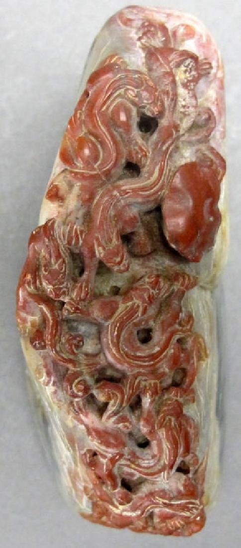 Chinese carved soapstone seal stamp - 9