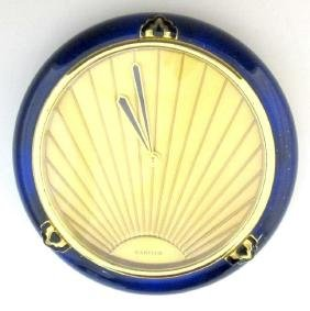 Cartier Desk Clock Circa 1980s Deco Style